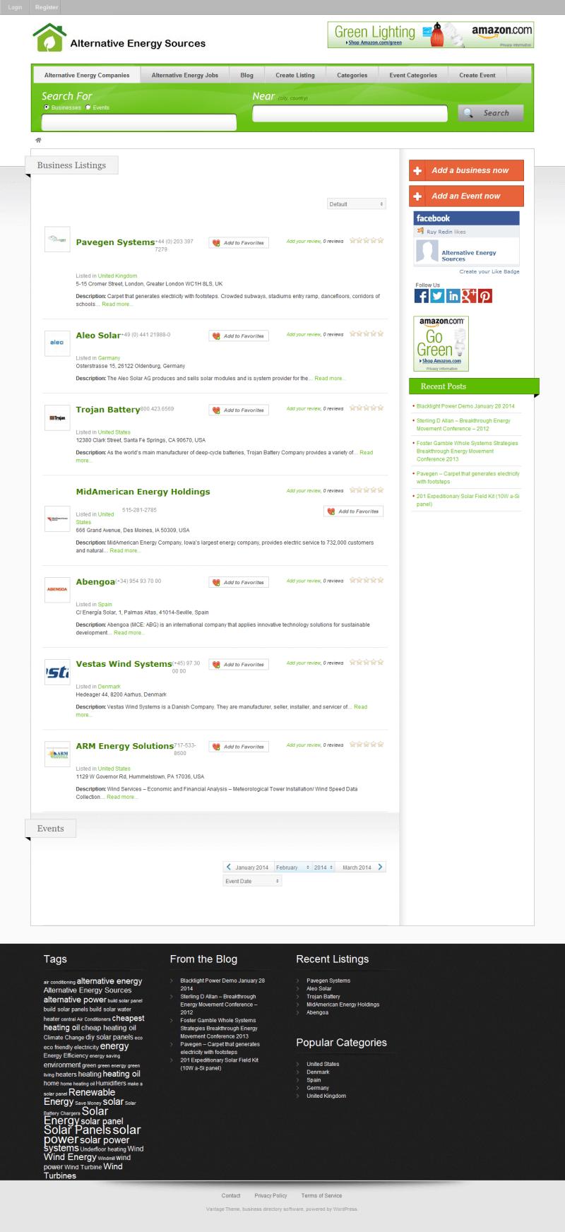 Alternative Energy Sources - Tema Wordpress